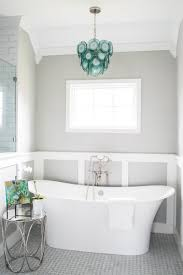 Gray And Aqua Bathroom