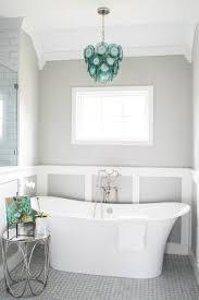 aqua blue and gray bathroom with regina andrew mini diva aqua chandelier