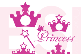 Party decoration, scrapbooking, card design, invitations, stickers, paper crafts, small all files are digital and no physical items will be sent. Free Princess Crown And Wand Monogram Design Set Svg Dxf Eps Cutting Files Crafter File Download Free Svg Files