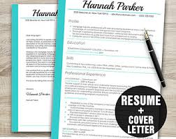 Resume Template Cv Template Cover Letter Template Instant