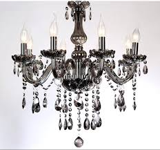 6 crystal chandelier 5 6 light led crystal chandelier modern lights smoke gray living room chandelier