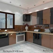 Kitchen Room Interior Way2nirman 100 Sq Yds 25x36 Sq Ft West Face House 2bhk Elevation