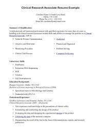 Clinical Research Associate Job Description Resume Clinical Research Associate Resume Entry Level Free Resume Templates 4