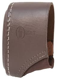 shot real leather hand stitched slip on recoil pad stock extender