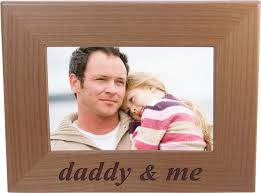 daddy and me wood picture frame holds 4x6 inch photo great gift for father s day birthday or gift for dad grandpa papa husband com