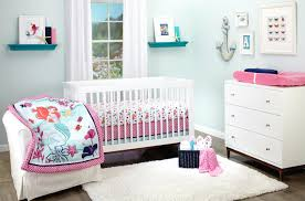 frog nursery bedding baby decor the little mermaid treasures sea three pieces crib set