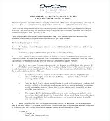 Sample Commercial Lease Agreement Format Templates Office Rent ...