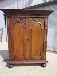 antique armoire furniture. Dutch Antique Armoire Wardrobe Linen Press Furniture Cabinet N