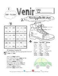Venir Verb Chart Venir Conjugation Worksheet Worksheets Textbook Teacher