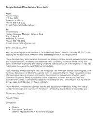 Cover Letter For Medical Assistant Job Cover Letters For Medical