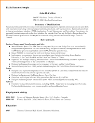Resume Qualifications Summary ability summary for resume sample resume summary of skills 31
