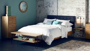 luxury fabric headboard bed heal brunel smoke grey h e a l king idea diy queen dublin canada nz