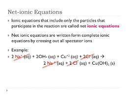 4 net ionic