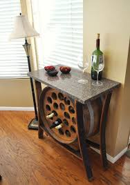 wine barrell furniture. Modren Barrell View In Gallery Wine Barrel Table With Builtin Wine Rack And Barrell Furniture