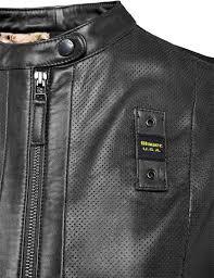 blauer usa icon biker las leather jacket women jackets fashion black blauer jacket for