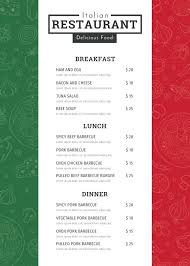 Restaurant Menu Design Templates Restaurants Menu Card Template Design Food Getpicks Co