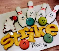Decorated Bowling Balls Sugar Cookies Themed Cookies Bowling Cookie Decorated Cookies 64