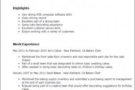 Recipe for the Perfect Bakery Clerk Resume Reentrycorps
