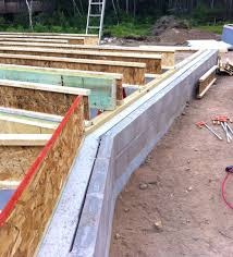 The BLDGtyp Blog Floor Framing And The First Walls Going Up - Insulating block walls exterior