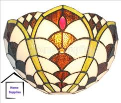 pacific tiffany glass handcafted wall light