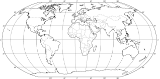 Coloring World Map Coloring Page For Kindergarten