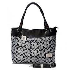 discount Tote Handbag Black White Coach deal online, save up to 70% off  hunting