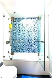 glass tiles for shower wall blue mosaic tile with bathroom installing