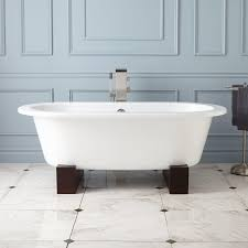erikson cast iron doubleended tub on wood cradles
