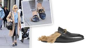 and you can thank sienna miller for that she recently stepped out wearing these gucci princetown leather slippers 995 and they