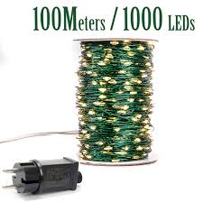 1000 Led Outdoor Christmas Lights Us 7 95 25 Off Green Cbale 1000 Led String Lights 100m Street Fairy Lights Outdoor Waterproof Tree Garland Christmas Holiday Decorration On
