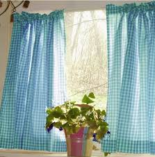 aqua blue kitchen curtains luxury turquoise gingham kitchen café curtain unlined or with white or