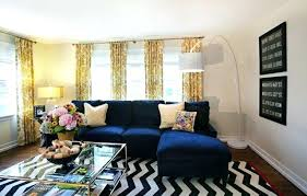 navy and white chevron rug western springs living room via chevron rug navy blue couch brass