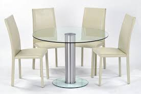 minimalist small round glass dining table with four chairs set a gallery of cozy small