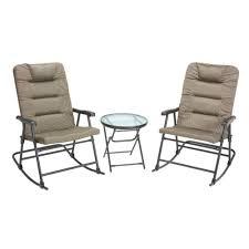 folding patio furniture set. mosaic 3-piece oversize folding rocker set patio furniture