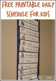 Free Printable Daily Visual Schedule Kids Schedule Daily