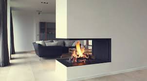 urban open effect 3 sided gas fireplaces