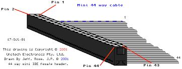 mini way ide and way ide cables mini 44 way idc