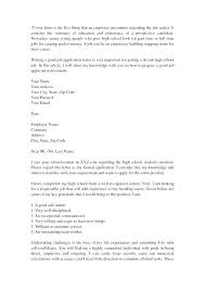high school cover letter examples sample application letter for  high