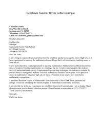 Resume Cover Letter Examples For Teachers