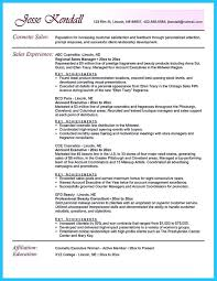 Cosmetic Sales Resume Sample Cosmetic Resume Examples Examples Of Resumes 2