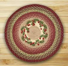 cranberries braided jute rug round