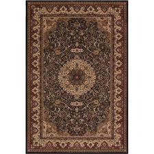 persian classic isfahan black rectangle indoor 10