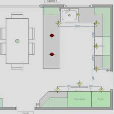 kitchen lighting layout. How To Draft The Kitchen Lighting Layout Using Recessed Lights O