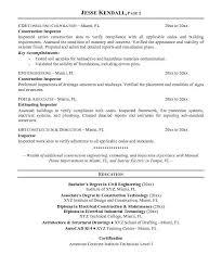 Home Inspector Resume - Resume Job