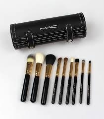 mac professional cosmetics 9pcs makeup brush set