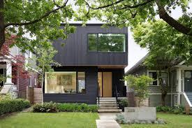modern house. A Modern Vancouver House Clad In Black Cedar