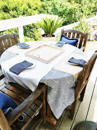 blue and yellow tablecloth best sunbrella chair cushions mesmerizing lovely patio table cloth scheme