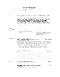 Template For Teacher Resume Best Early Childhood Education Resume Sample Early Childhood Education
