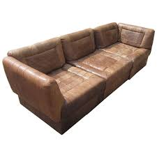 Percival Lafer Modular Sectional Leather Sofa For Sale