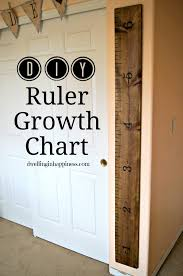 Diy Height Chart Diy Ruler Growth Chart Made To Be A Momma